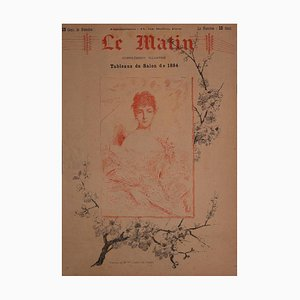 Charles Joshua Chaplin, Porträt von Madame Ml, Lithographie, 1884