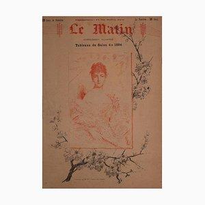 Litografia di Charles Joshua Chaplin, Portrait of Madame Ml, 1884