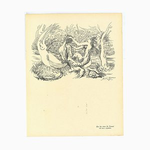 André Masson, Composition Surrealist, Collotype, 20th Century