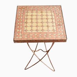 Tisch mit Intarsieplatte