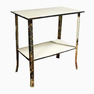 Vintage Enamel Side Table from Etna