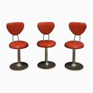 Vintage America Style Bar Stools, Set of 3