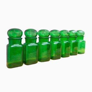 Green Pots, Set of 7