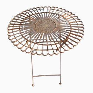 Mesa de exterior de hierro fundido