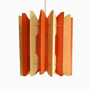 Orange and White Ceiling Lamp, 1960s