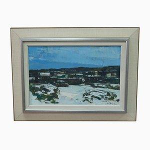 Gunnar Herman Berglund, Schwedische Moderne Malerei, 1960er, Öl auf Leinwand