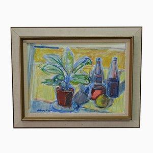 Arthur Yngve Nilsson, Schwedische Moderne Malerei, 1960er, Öl auf Leinwand