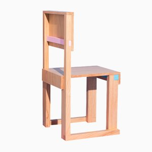 EASYDiA JR Terramare Pink Chair in Solid Chesnut by Massimo Germani Architetto for Progetto Arcadia, 2021