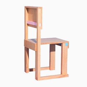 Sedia Terry EASYDiA JR in legno di castagno massiccio di Massimo Germani Architetto per Progetto Arcadia, 2021