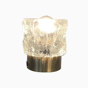 Strukturglas Tischlampe von Peill & Putzler, 1970er