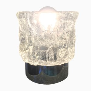 Lampe de Bureau en Verre Texturé de Peill & Putzler, 1970s