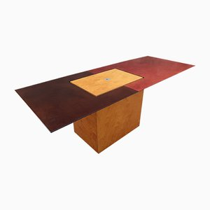 Vintage Coffee Table with Bar