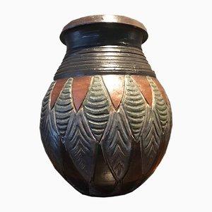 Belgian Stoneware Vase by J Guyaux, 1969