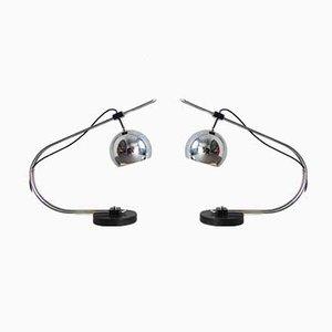 Lampes de Bureau Eyeball de Reggiani, 1970s, Set de 2