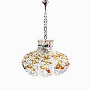 Italian Murano Glass Ceiling Lamp by Carlo Nason for Mazzega, 1960s