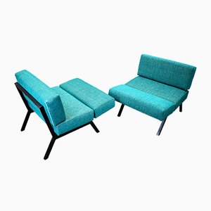 Italian Reclining Lounge Chairs from IPE Brevetti, 1960s, Set of 2