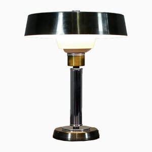 Italian Ministerial Style Metal Table Lamp, 1960s