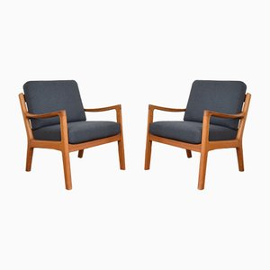 Mid-Century Danish Teak Armchairs by Ole Wanscher for Poul Jeppesens Møbelfabrik, 1950s, Set of 2