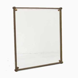 Bauhaus Mirror in Copper Frame, 1920s