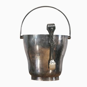 Vintage Modernist Silver-Plated Ice Bucket, 1930
