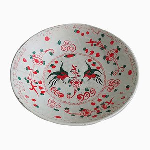 Antique Earthenware Ceramic Bowl, 17th Century