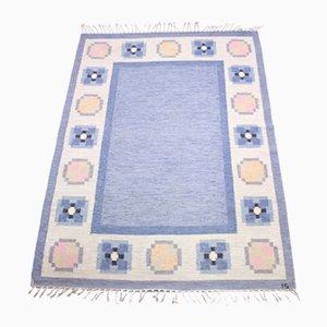 Flat Weave Röllakan Teppich von Ingegerd Silow, 1950er