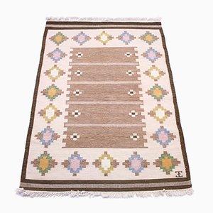 Flat Weave Röllakan Carpet by Elsa Ekholm, 1950s