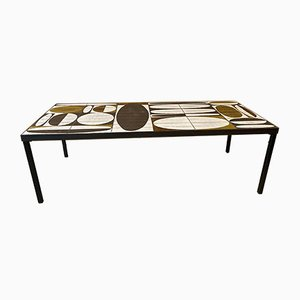 Mid-Century French Ceramic Coffee Table by Roger Capron, 1960s