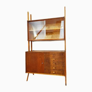 Czechoslovakian Bookcase / Chest of Drawers by František Jirák for Tatra, 1960s, Set of 2