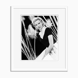 Grace In Rear Window Archival Pigment Print Framed in White by Everett Collection