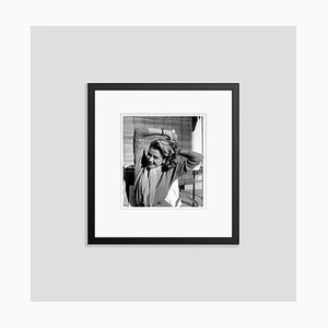 Grace Kelly Grooming Her Hair Archival Pigment Print Framed in Black by Everett Collection