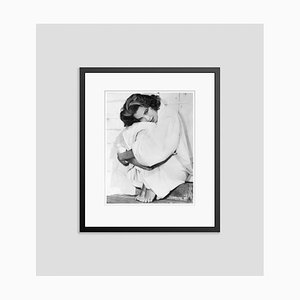 Grace Kelly Bundles Up In Her Robe Archival Pigment Print Framed in Black by Bettmann