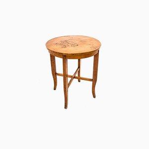 Polish Art Deco Round Coffee Table, 1950s