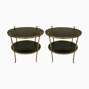 Tiered Side Tables from Maison Baguès, 1950s, Set of 2