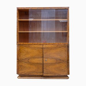 Art Deco Walnut Cabinet from Universal Prostejov, 1930s