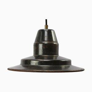 Mid-Century Industrial Gray Enamel Factory Pendant Lamp