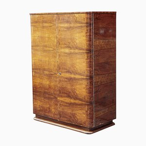 Art Deco Walnut Wardrobe from Universal Prostejov, 1930s