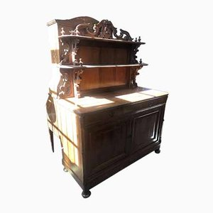 Antique Walnut Sideboard with Shelf