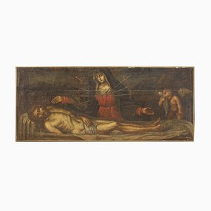 Antike Tafel aus dem 17. Jahrhundert, Christus und Unsere Liebe Frau von Schmerzen