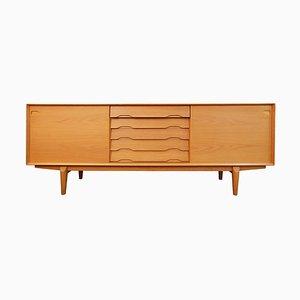 Danish Light Oak Sideboard from Henry Rosengren Hansen, Late 1960s