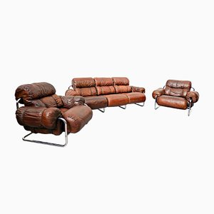 Italian Tucroma Sofa Set by Guido Faleschini for Mariani, 1960s, Set of 3