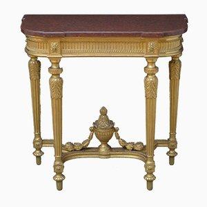 Viktorianischer Konsolentisch aus vergoldetem Holz mit Jardinière