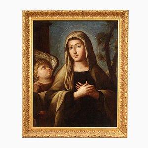 Peinture Ancienne Santa Francesca Romana, 18ème Siècle