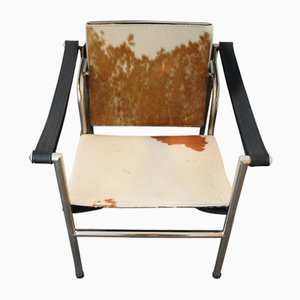 Pony Skin LC1 Sling Armchair with Tubular Frame by Le Corbusier, Pierre Jeanneret & Charlotte Perriand, 1970s