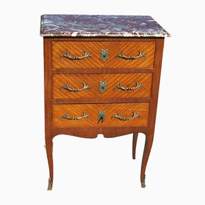 Small Louis XVI Style Marquetry Chest of Drawers, 1970s