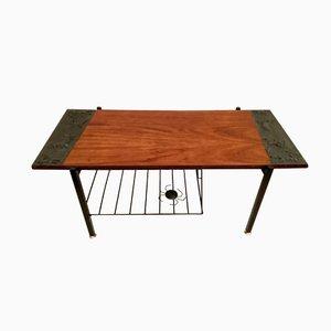 Tavolino da caffè in teak e ferro