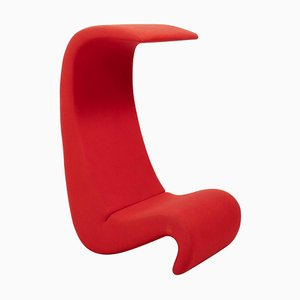 Red Amoebe Highback Chair by Verner Panton for Vitra