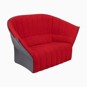 Rotes Loveseat Sofa von Inga Sempé für Ligne Roset, 2007