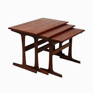 Vintage Nesting Tables by Kai Kristiansen for Vildbjerg Møbelfabrik, Set of 3
