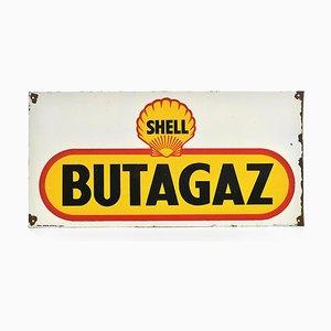 Emailliertes Werbeschild von Shell Butagaz